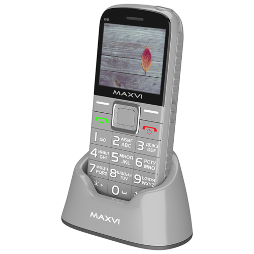 Телефон MAXVI B5 серый телефон maxvi b5