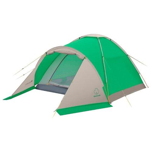 Палатка Greenell Моби 2 плюс зеленый/светло-серый