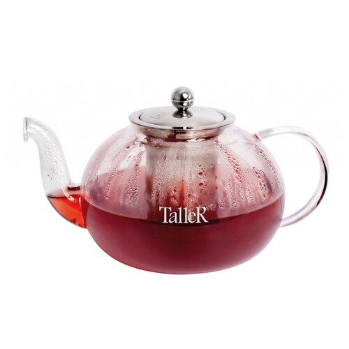 Taller Заварочный чайник Данлир TR-1370 800 мл, прозрачный