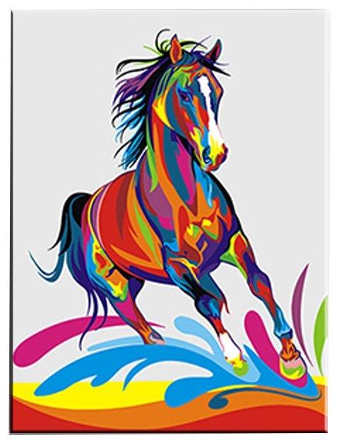 Русская Живопись Картина по номерам Цветной конь 40х50 см (H053)