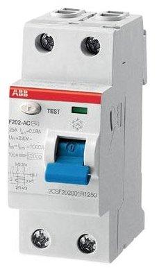 УЗО ABB 10мА тип AC F202 (2CSF202001R0160) 2 полюса