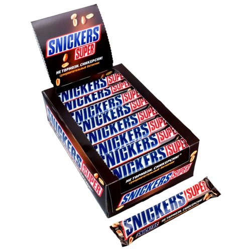 Батончик Snickers Super, 95 г, коробка (32 шт.)
