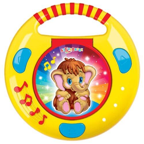 Интерактивная развивающая игрушка Азбукварик CD-плеер с огоньками
