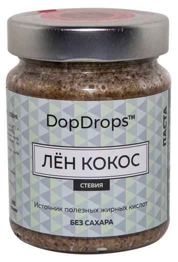 DopDrops Паста ореховая Лен Кокос (стевия) стекло