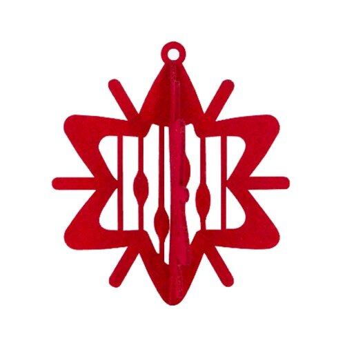 Елочная игрушка Feltrica 3D Звезда красный