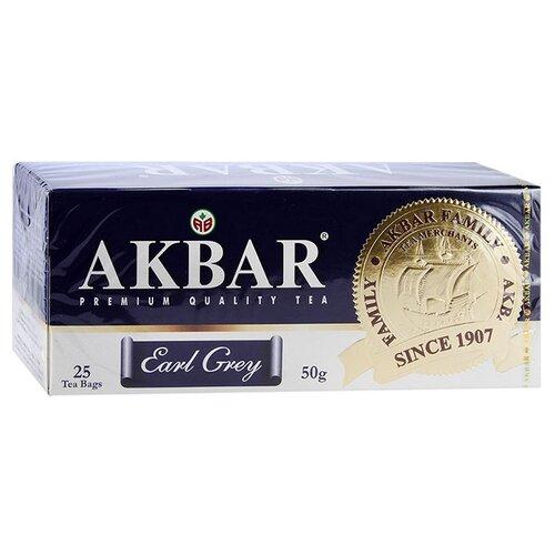 Чай черный Akbar Earl Grey в пакетиках, 25 шт. twinings earl grey tea черный ароматизированный чай в пакетиках 25 шт