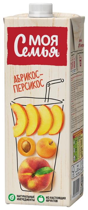 Напиток сокосодержащий Моя Семья Абрикос-Персикос, 0.95 л