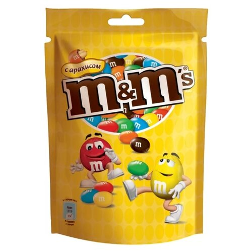 Фото - Драже M&M's Peanut в шоколадной глазури, с арахисом, 130 г грецкий орех кремлина в шоколадной глазури 135 г