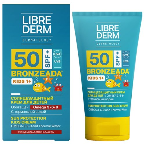 Librederm Bronzeada солнцезащитный крем для детей Omega 3-6-9 SPF 50 150 мл