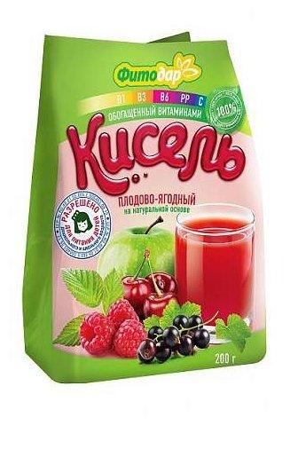 Кисель Фитодар плодово-ягодный на натуральной основе витаминизированный 200 г