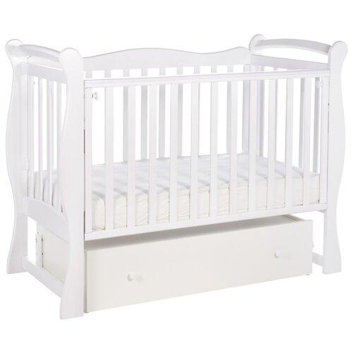 Кроватка SWEET BABY Dolce Vita (классическая), поперечный маятник белый детские кроватки sweet baby ennio маятник поперечный