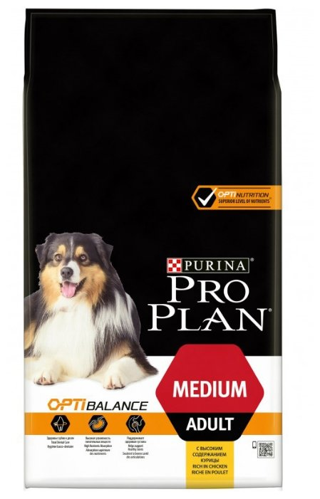 Корм для собак Purina Pro Plan Optibalance курица 7 кг (для средних пород)