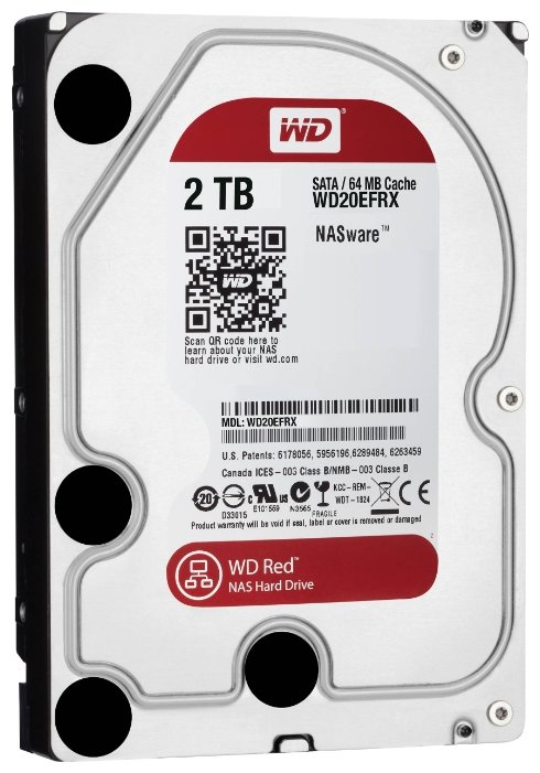 Western Digital Жесткий диск HDD 2.0Tb Western Digital, SATA-III 64Mb, 5400-7200rpm RED #WD20EFRX