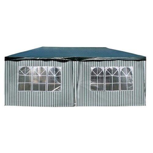 Шатер Афина-Мебель AFM-1015, со стенками, 6 х 3 х 2.5 м зеленый / белый
