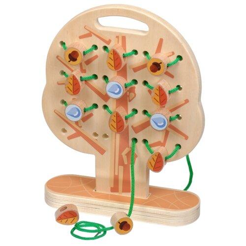 Купить Шнуровка Мир деревянных игрушек Дерево (Д104) бежевый, Шнуровки