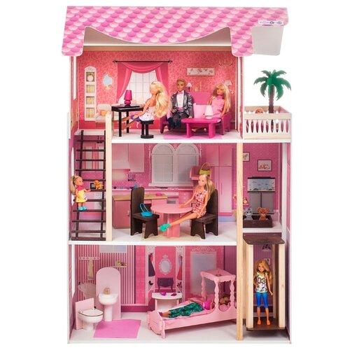 Купить PAREMO кукольный домик Монте-Роза (с мебелью) PD318-03, розовый, Кукольные домики