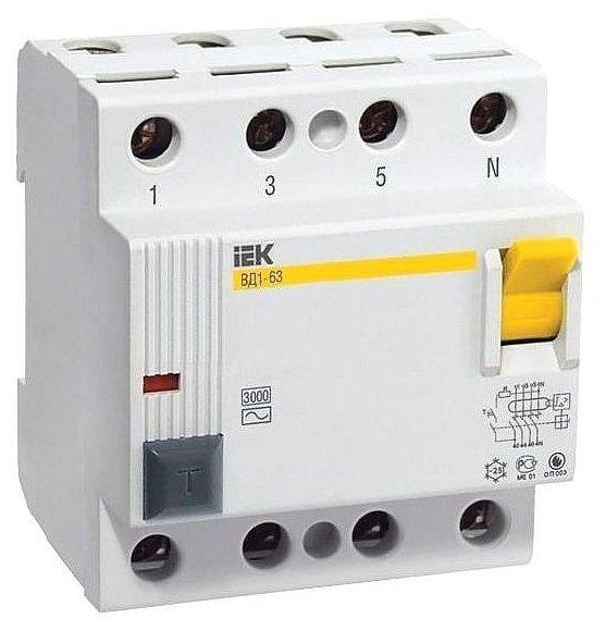 УЗО IEK 300мА тип AC ВД1-63 4 полюса