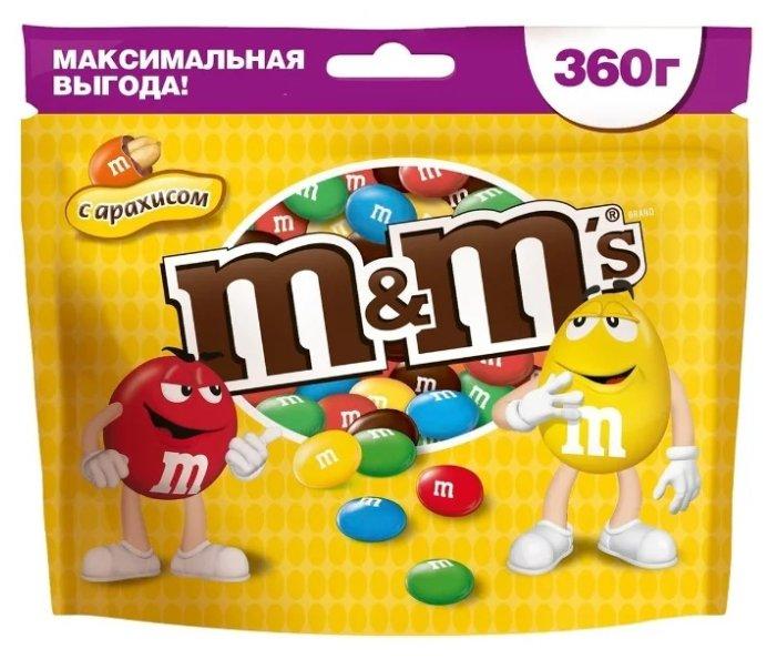 Драже M&M's Peanut в шоколадной глазури, с арахисом