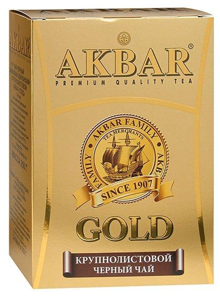 """Чай Akbar """"Gold"""", черный крупнолистовой, 100 гр"""