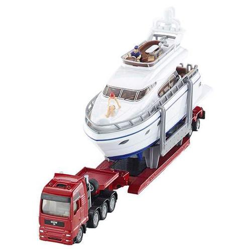 Набор машин Siku Тягач с яхтой (1849) 1:87 27 см красный/белый