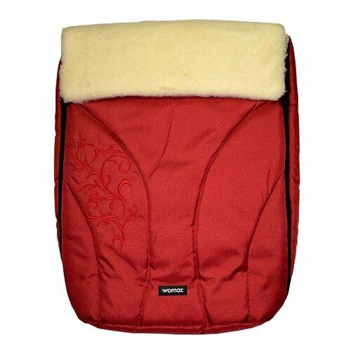 Купить Конверт-мешок Womar Snowflake в коляску 95 см 4/2 красный, Конверты и спальные мешки