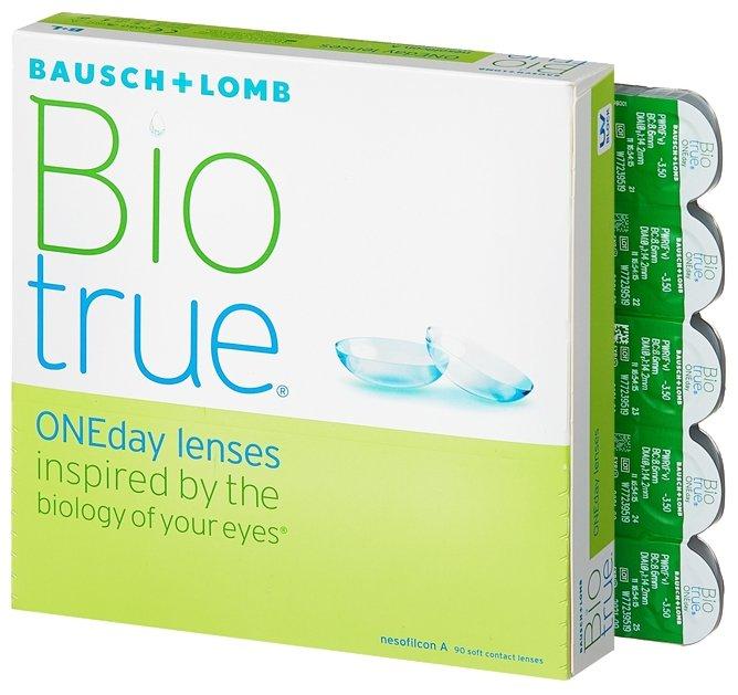 Контактные линзы Bausch & Lomb Biotrue ONEday (90 линз) R 8,6 D -7