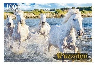 Пазл Рыжий кот Puzzolini Табун камаргских лошадей (GIPZ1000-7703), 1000 дет.