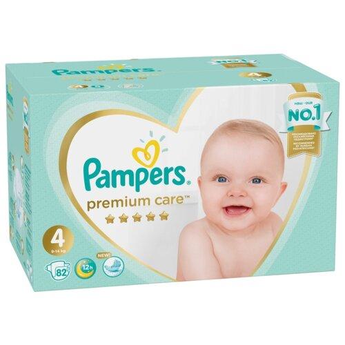 Купить Pampers подгузники Premium Care 4 (9-14 кг) 82 шт., Подгузники