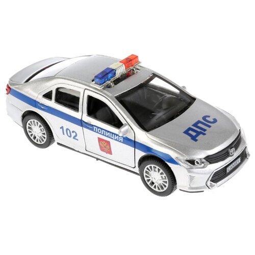Купить Легковой автомобиль ТЕХНОПАРК Toyota Camry Полиция (CAMRY-P-SL) 12 см серебристый/синий, Машинки и техника