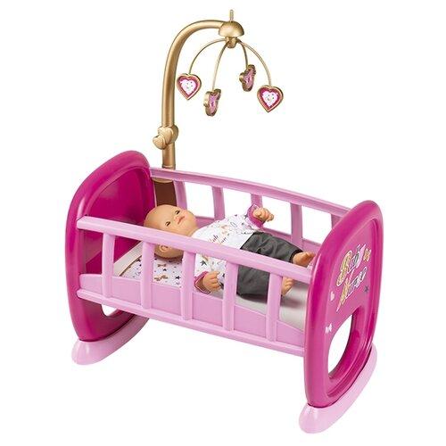 Smoby Колыбель для кукол с мобилем Baby Nurse (220328) розовый