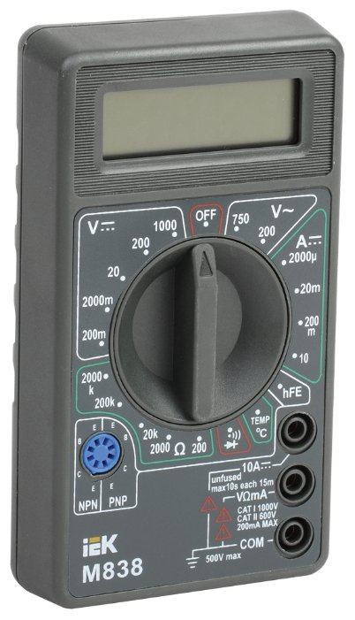 Мультиметр IEK Universal M838