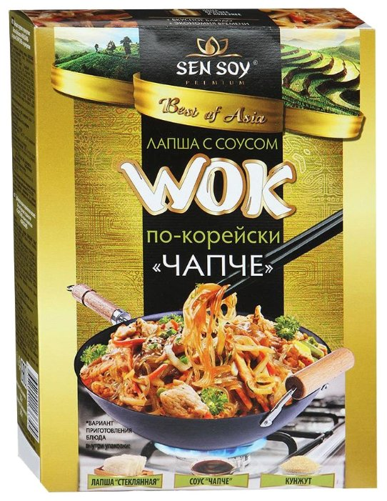 Лапша Sen Soy Wok бобовая с соусом чапче по-корейски 235 г