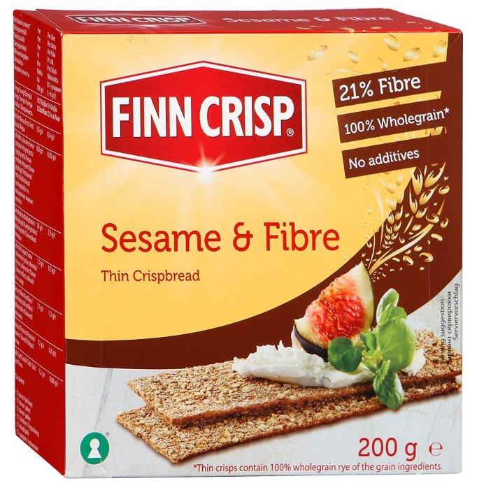 Сухарики ржаные Finn Crisp с кунжутом и отрубями 200 г