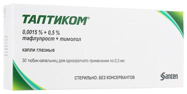 Купить Таптиком капли глазные 0,0015 % 0,5% флакон-капельница 0 ...