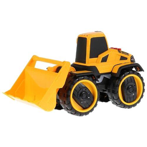 Фото - Бульдозер ТЕХНОПАРК Горстрой (A6677-5R) 25 см желтый бульдозер технопарк с дорожными знаками u1408a 4 12 5 см оранжевый