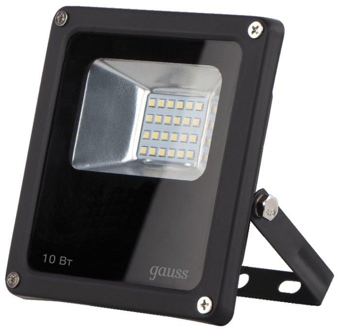 Прожектор светодиодный 10 Вт gauss 613100310 LED IP65 6500К
