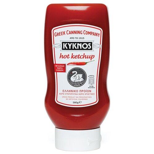 Кетчуп KYKNOS Острый, пластиковая бутылка 580 г