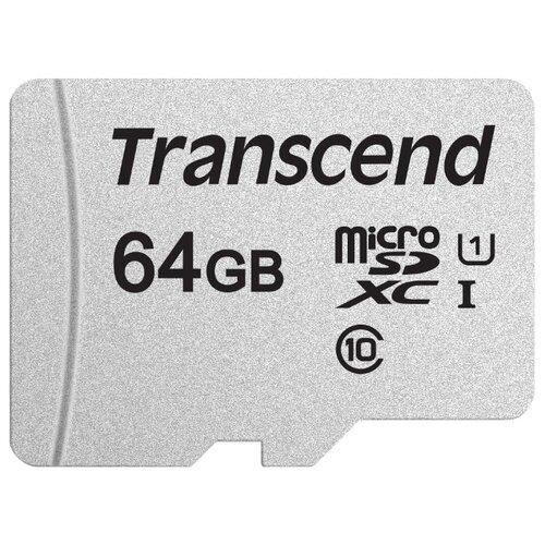 Фото - Карта памяти Transcend microSDXC 300S Class 10 UHS-I U1 64GB (TS64GUSD300S) карта памяти mirex sdxc class 10 uhs i u1 64gb