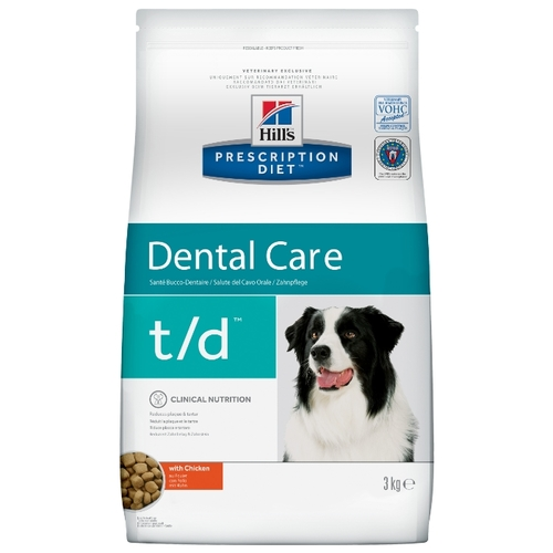 Корм для собак Hill's (3 кг) Prescription Diet T/D Canine Dental Health dry