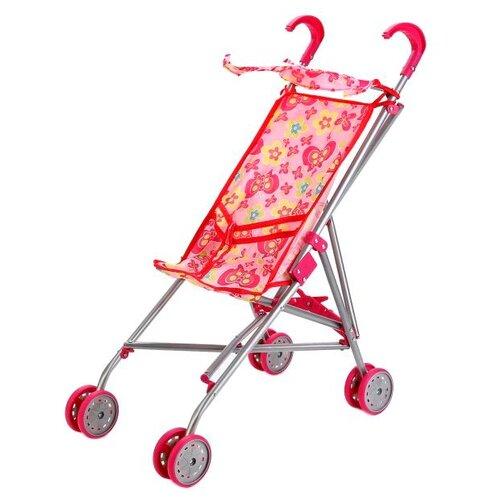 Купить Прогулочная коляска Карапуз 63ACS-C2 красно-розовый, Коляски для кукол