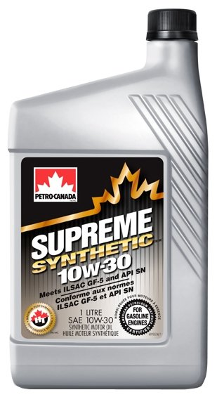Моторное масло Petro-Canada Supreme Synthetic 10W-30 1 л