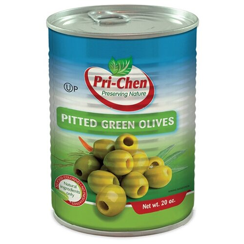 Pri-Chen Оливки зеленые без косточек, жестяная банка 560 г