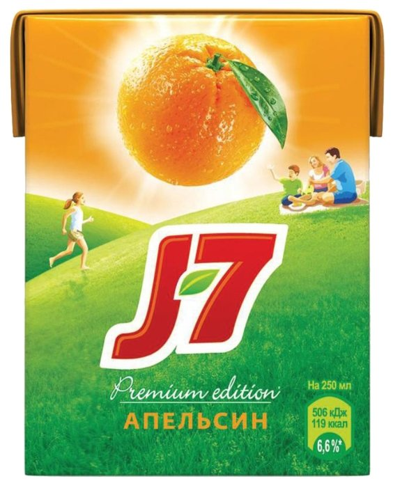 Сок J7 Апельсин, без сахара