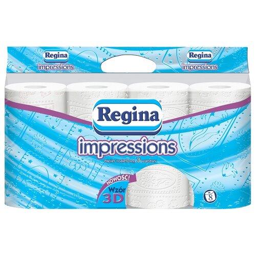 Фото - Туалетная бумага Regina Impression белая с 3D декорацией трёхслойная 8 рул. t l de victoria salve regina for 8 voices