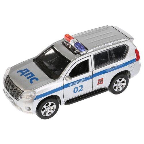 Купить Внедорожник ТЕХНОПАРК Toyota Prado Полиция (PRADO-P) 12 см серебристый/синий, Машинки и техника