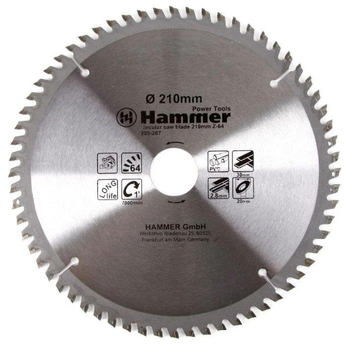 Пильный диск Hammer Flex 205-207 CSB PL 210х30 мм