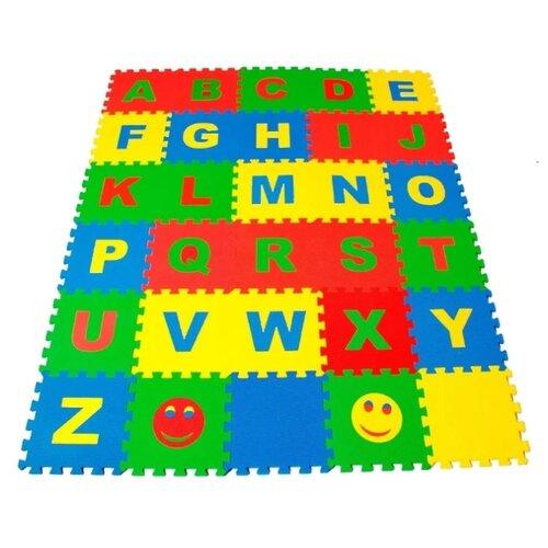 Коврик-пазл ЭкоПолимеры Английский Алфавит (25МПД2/А), Игровые коврики  - купить со скидкой