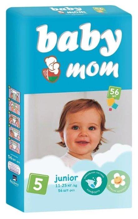 Baby Мom подгузники 5 (11-25 кг) 56 шт.
