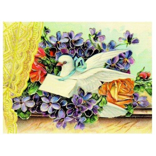 Купить Color Kit Открытка по номерам Весточка с любовью 30х40 см (ВМ017), Картины по номерам и контурам