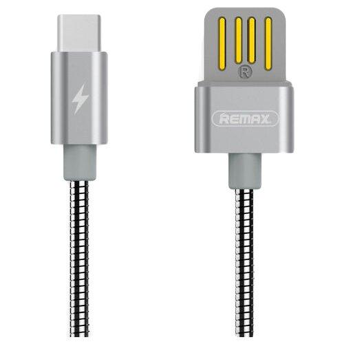 Кабель Remax Tinned Copper USB - USB Type-C (RC-080a) 1 м, серебряный кабель remax kerolla usb usb type c rc 094a 1 м черный